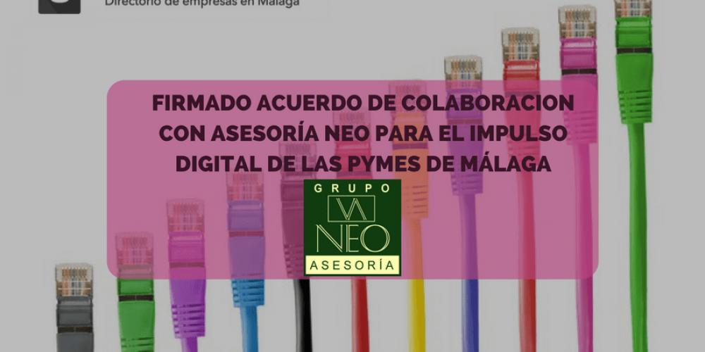 Acuerdo con ASESORÍA NEO para impulsar la presencia digital de las pymes de Málaga