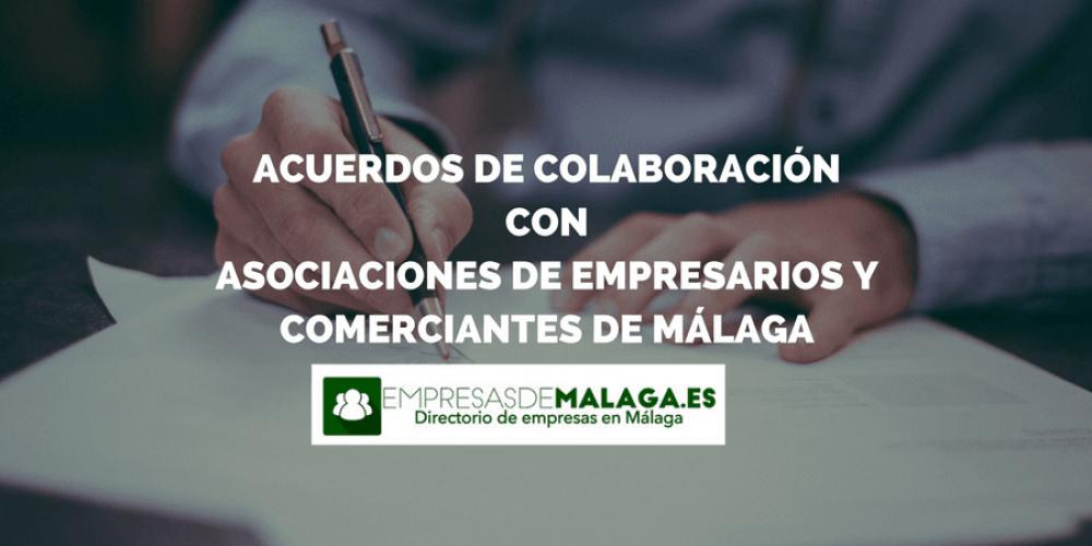 Acuerdos de colaboración con asociaciones de comerciantes y empresarios de Málaga